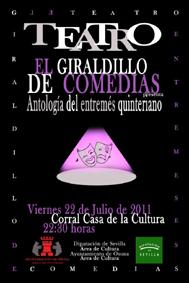 Cartel Giraldillo de Comedias
