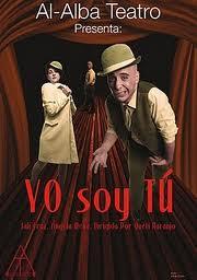 """Cartel de la obra de Al Alba Teatro """"Yo soy tú"""""""