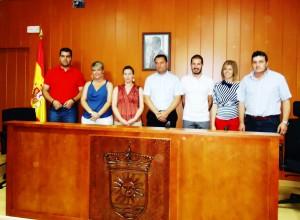 alcalde badolatosa y su equipo de concejales - toma posesion - 11-06-2011