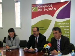 Francisco Obregón y Juan García Baena, en un momento de la presentación