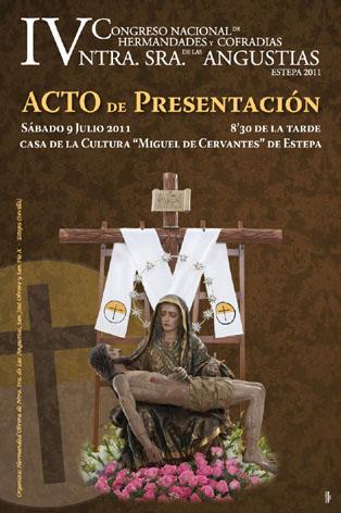 Cartel anunciador de la presentación del IV Congreso