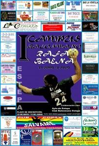 Cartel anunciador del I Campus Balonmano Rafa Baena