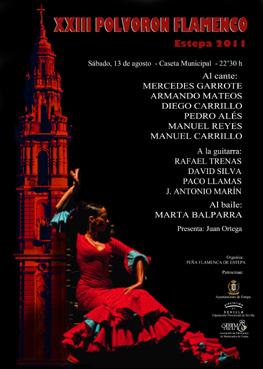 Cartel del Polvorón Flamenco 2011