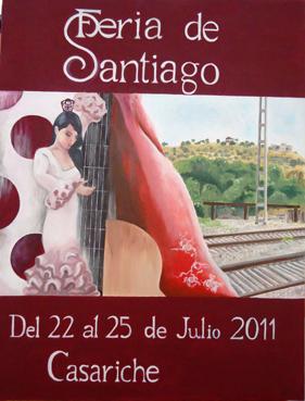 Cartel Feria Casariche 2011, Marisol Carrascosa