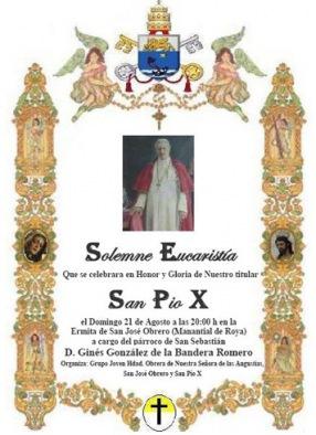 cartel onomástica san Pío X