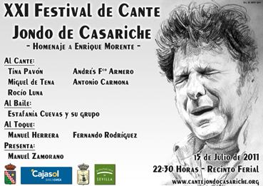 Cartel del Festival de Cante Jondo de Casariche 2011