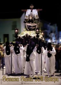Imagen de la Hermandad de las Angustias en el cartel de la Semana Santa de Estepa 2011, obra de Esteban Galván.