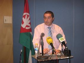 El candidato del PA de Estepa, Miguel Fernández Baena