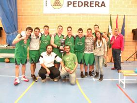 Equipo juvenil del Club Pedrera Baloncesto