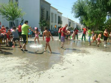 Fiesta del agua en Osuna