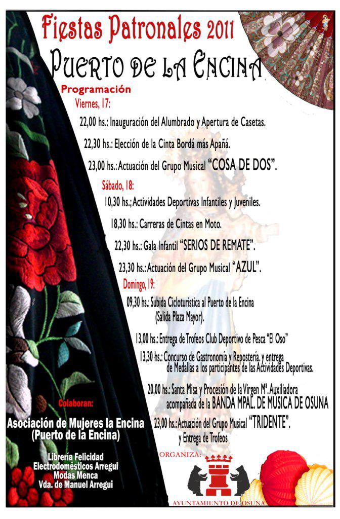 Cartel anunciador de las Fiestas Patronales de El Puerto de la Encina (Osuna)