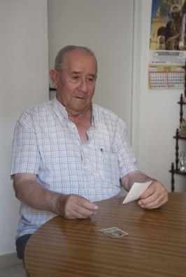 Francisco Reina, en su casa