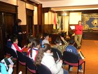 Alumnos de Las Huertas, en el Ayuntamiento