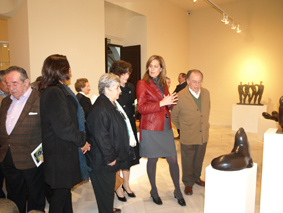 La alcaldesa de Osuna inaugurando las nuevas salas del Museo de Osuna