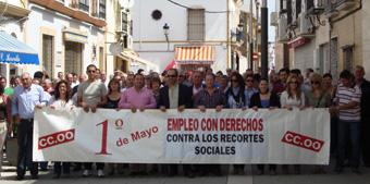 manifestación 1 de mayo en Casariche