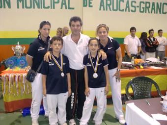 Laura Gallardo y José Ignacio López, medallas de oro y plata en sus categorías. Foto: Ayto. Osuna.