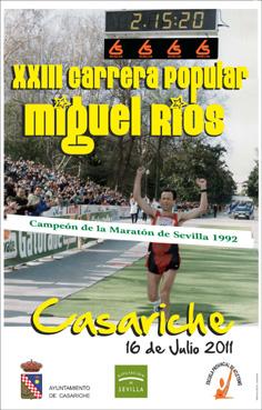 Cartel anunciador de la carrera popular Miguel Ríos