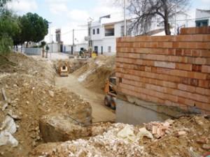 Obras del nuevo colector en Badolatosa