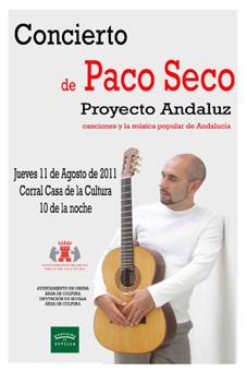 El guitarrista Paco Seco actuará en Osuna