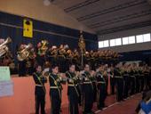 La Agrupación Musical Paz y Caridad, en un momento de su actuación