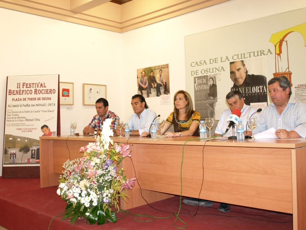 Presentación del festival flamenco benéfico en Osuna