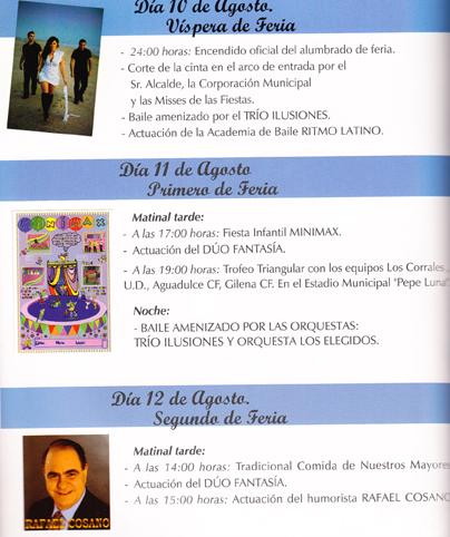 Programa de Feria de Gilena 2011 - 1