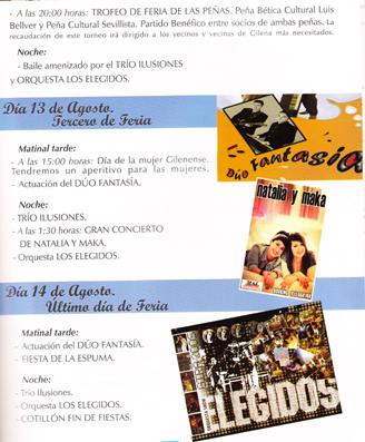 Programa de Feria de Gilena 2011 - 2