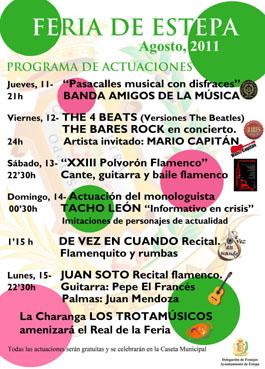 Programa Feria de Estepa 2011