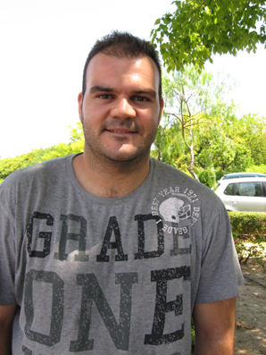 Rafa Baena, jugador internacional de Balonmano