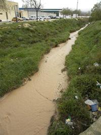 El Río Seco a su paso por Pedrera en la actualidad