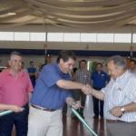 El alcalde inaugurando el III Salón del Vehículo de Ocasión de Estepa
