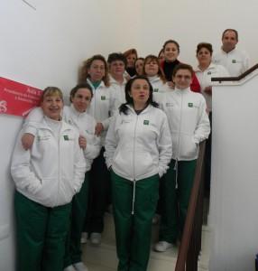 Alumnos del taller de empleo de Pedrera