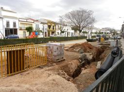 Imagen de las obras que se están llevando a cabo en la Plaza Toledillo