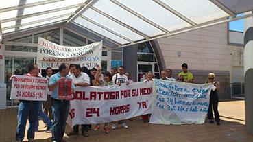 Concentración en el Hospital Comarcal de Osuna encabezada por Fidel Romero