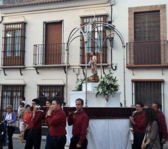 Imagen de la procesión del Niño Perdido de Herrera. Foto: Hermandad Ntra. Sra. Esperanza de Herrera (vía twitter)