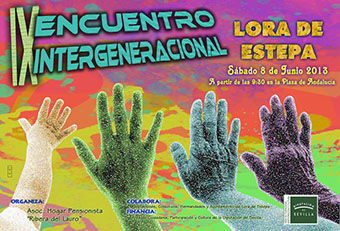 Cartel del encuentro intergeneracional
