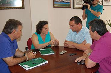 La delegada provincial de Salud, Francisca Díaz, ayer en Badolatosa