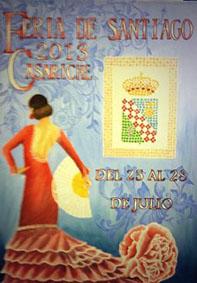 Cartel anunciador de la Feria de Casariche 2013, obra de Basilio Romero