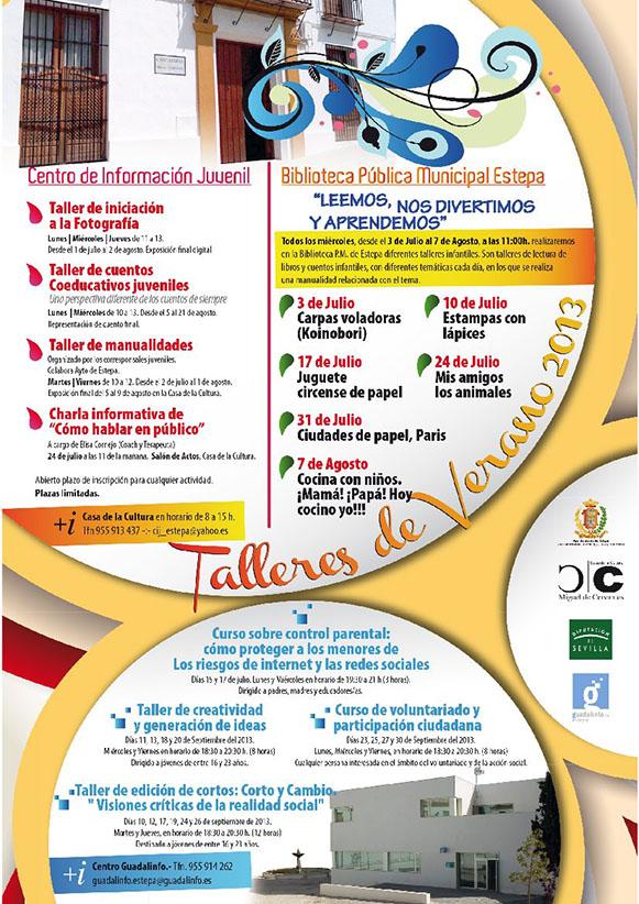 Talleres de Verano 2013 en Estepa