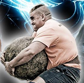 Imagen de uno de los competidores en el StrongMan