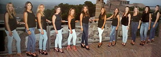 Candidatas a Reina de la Feria 2013 Estepa