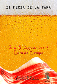 Cartel de la II Feria de la Tapa de Lora