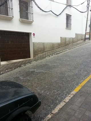 Calle Saladillo a las cinco de la tarde. Foto: J. Martín.