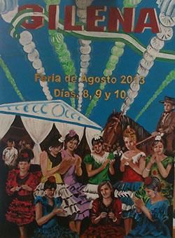 Cartel de la Feria de Gilena, cuyo autor es José Manuel Rodríguez Otero.