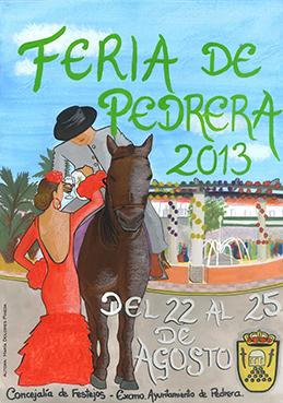 Cartel de la Feria de Pedrera, obra de María Dolores Pineda