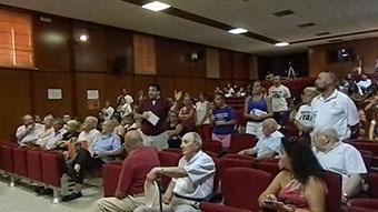 Momento de la intervención de Rafael Moreno en el curso de verano de Casariche