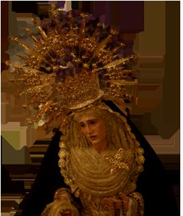 Virgen de la Soledad de Osuna. Foto: Web de la Hermandad de Humildad y Paciencia.
