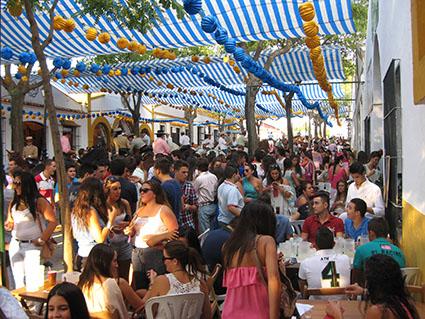 Imagen de la Feria de Estepa, hacia las siete de la tarde del viernes 6