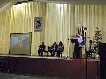 Fidel Romero, durante su intervención en la gala
