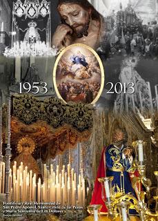 Cartel conmemorativo de la reorganización de la Hermandad de San Pedro de Estepa